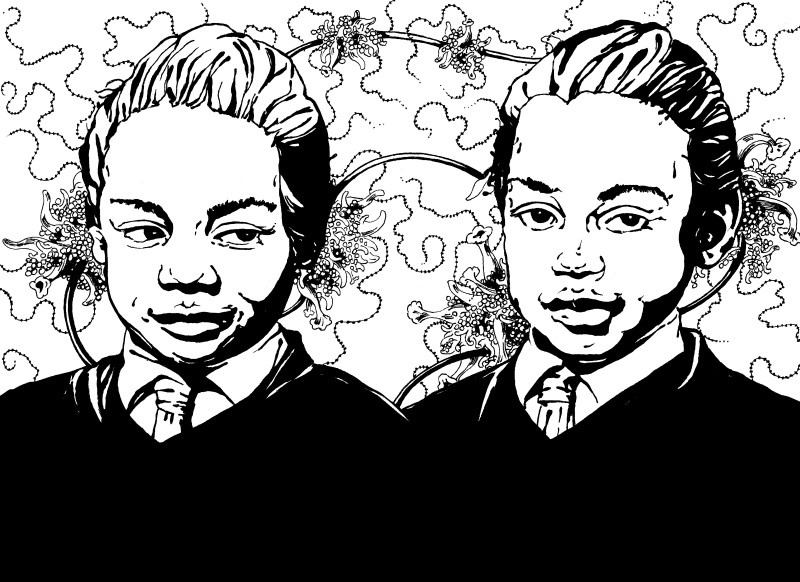 Le Sorelle Gibbons - illustrazione di Laura Giardino