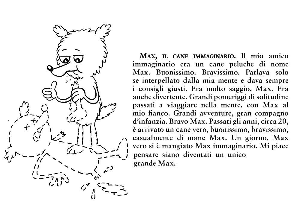 Max, il cane immaginario - illustrazione di Edo Baraldi