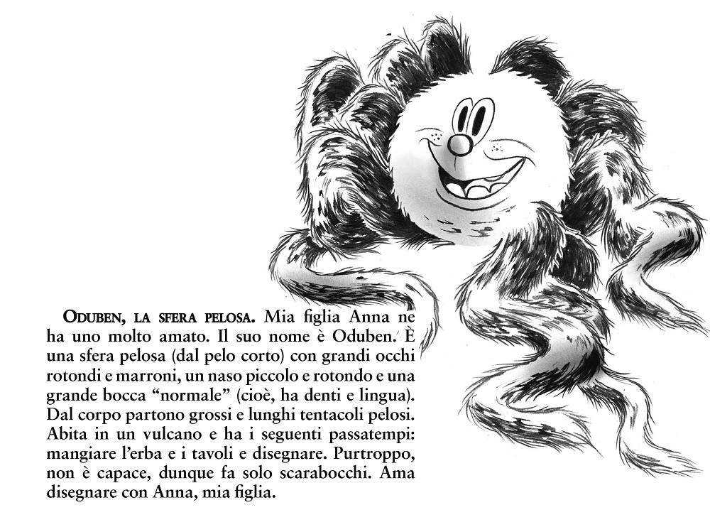 Oduben, la sfera pelosa - illustrazione di Lorenzo Mò
