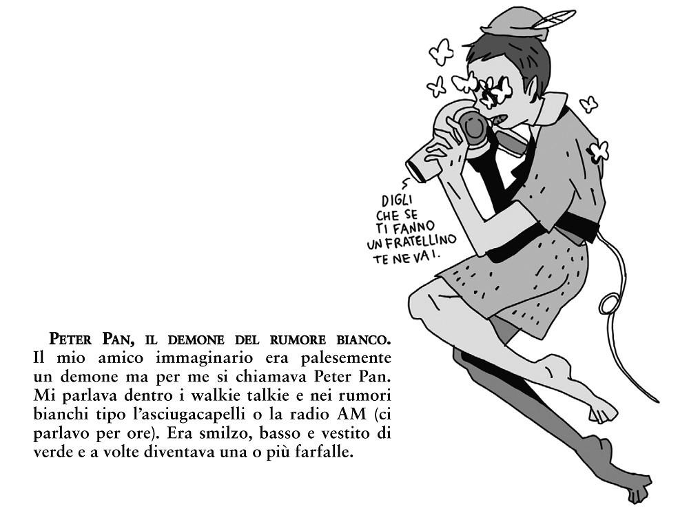 Peter Pan, il demone del rumore bianco - illustrazione di Nova