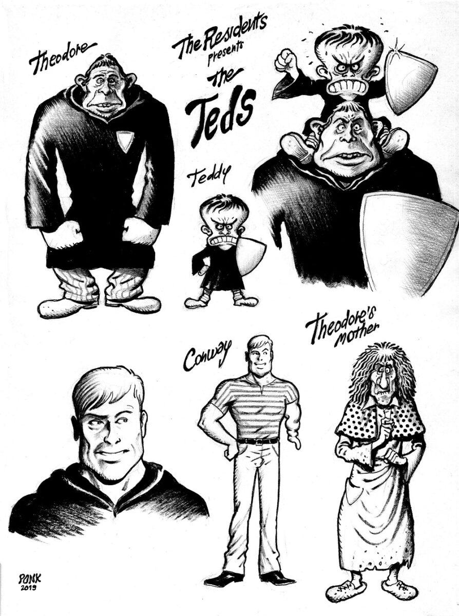 Studi di personaggi per la storia THE TEDS