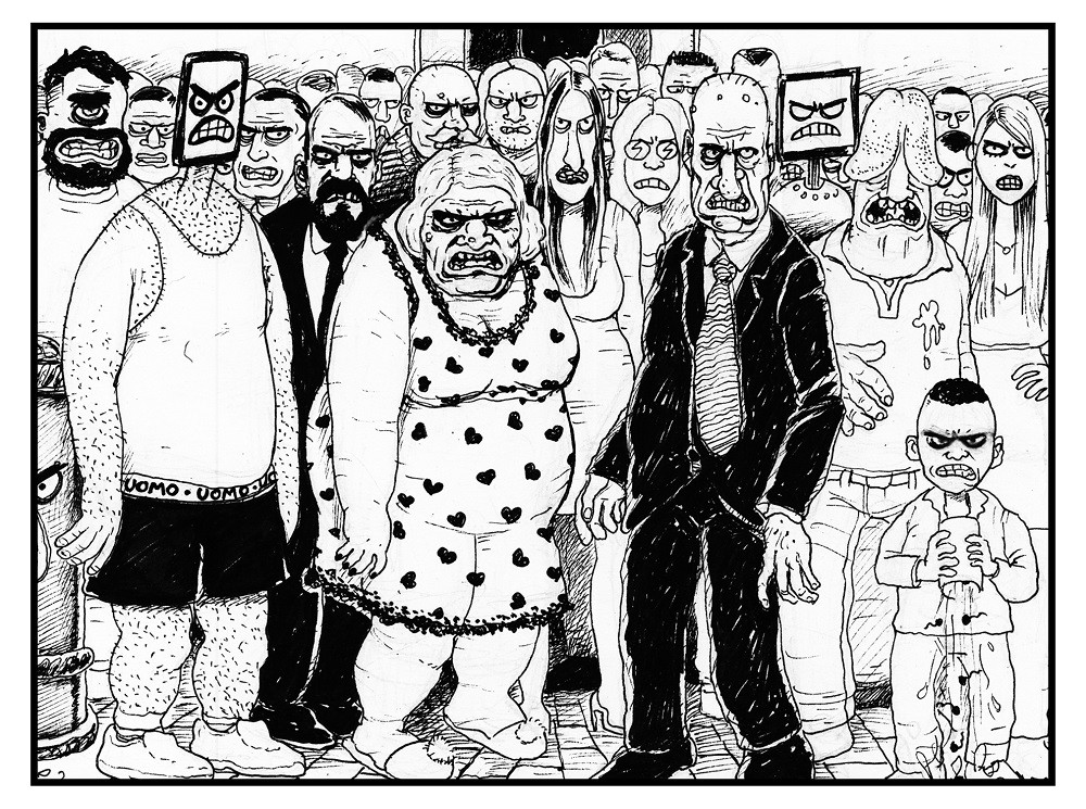 Una anteprima della storia realizzata per Capek 2 , disegni di Thomas Bires e sceneggiatura di Marco D'Alessandro