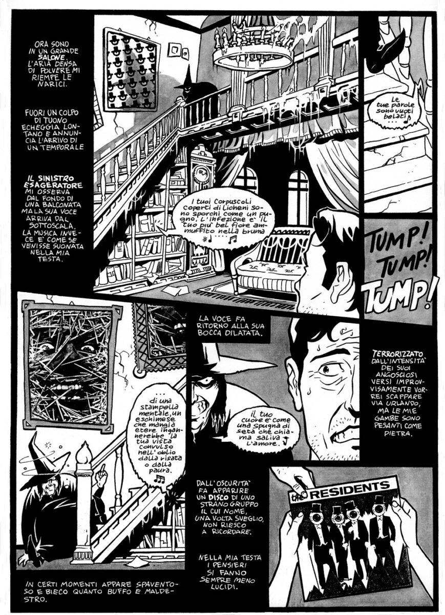 Un'apparizione dei Residents da Il Sinistro Esageratore di Sergio Ponchione