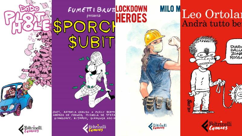Luglio 2020 per Feltrinelli Comics: Fumettibrutti, Ortolani, Manara, Dad