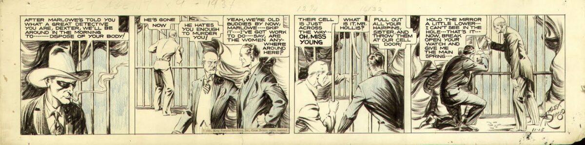 Alex Raymond Secret Agent X-9 1934 original artwork