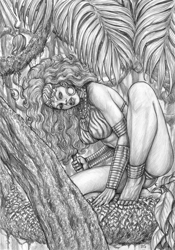 JAY-NA The Jungle Queen by Ulderico Fioretti (work in progress)