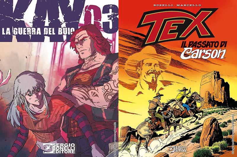 """SBE presenta Kay #03 e """"Tex – Il passato di Carson"""""""