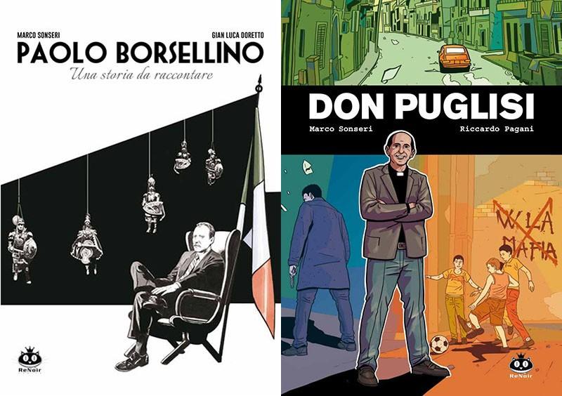 ReNoir presenta due volumi dedicati a Borsellino e Don Puglisi