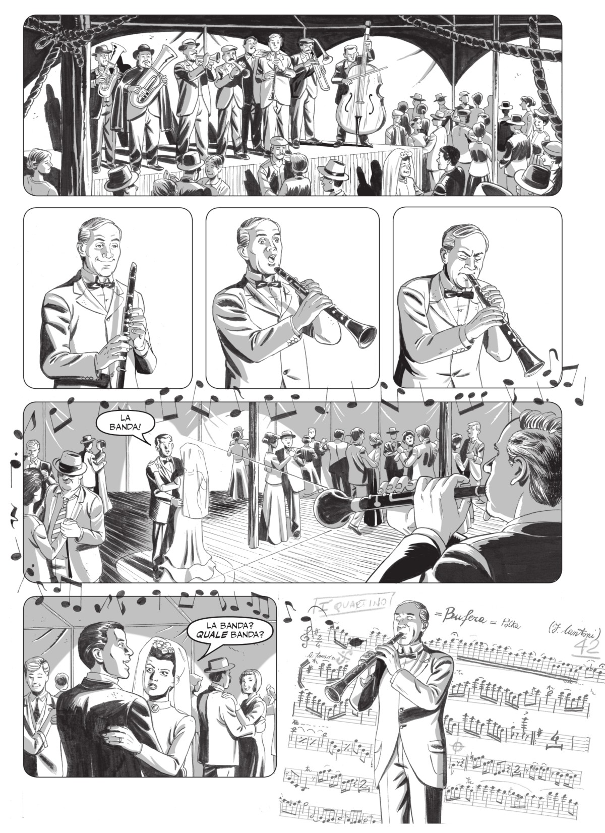 DC_20 La banda, disegni Tommaso Arzeno