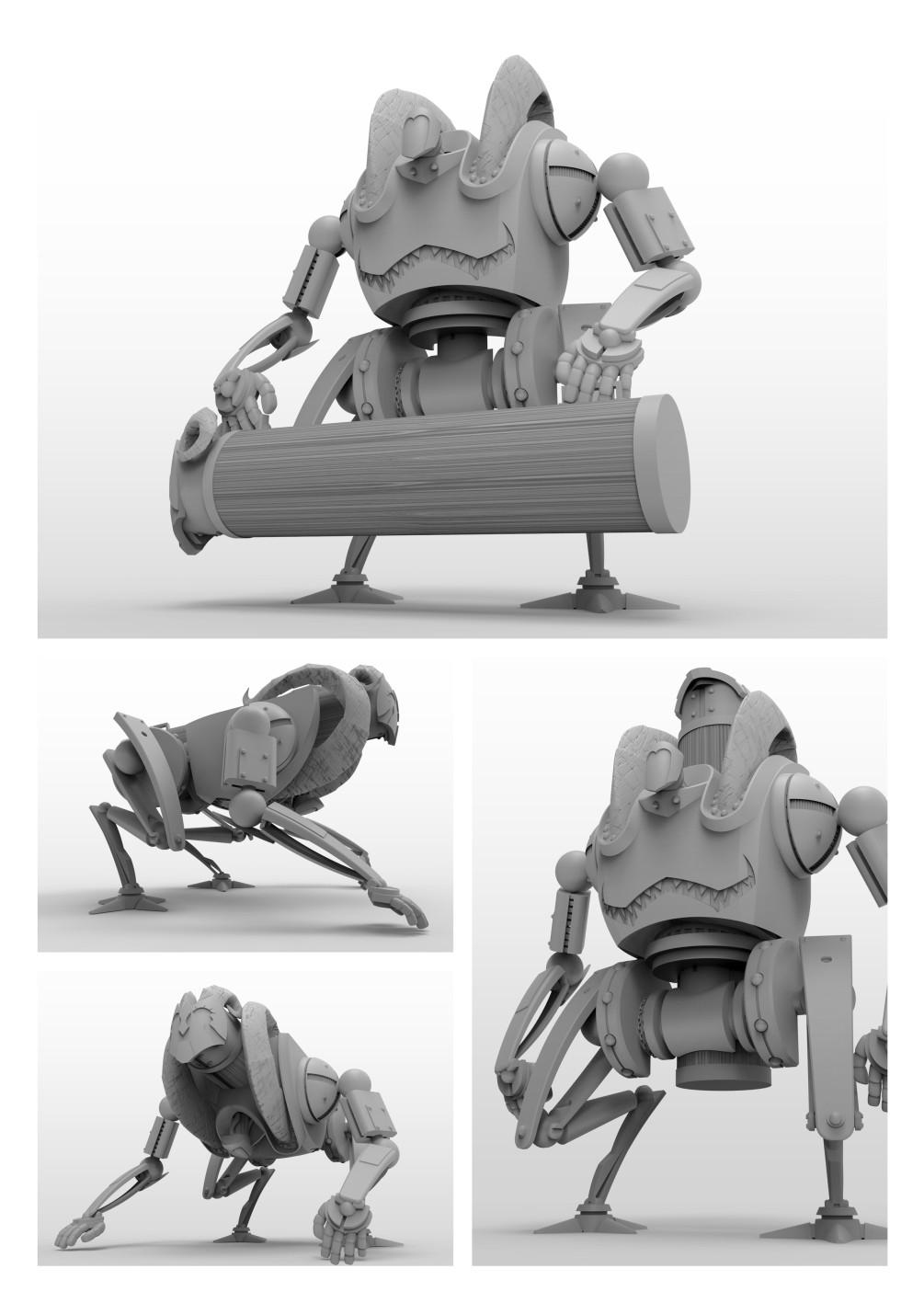 Robot Ariete - Elaborazioni 3D - Daniele Cattarin