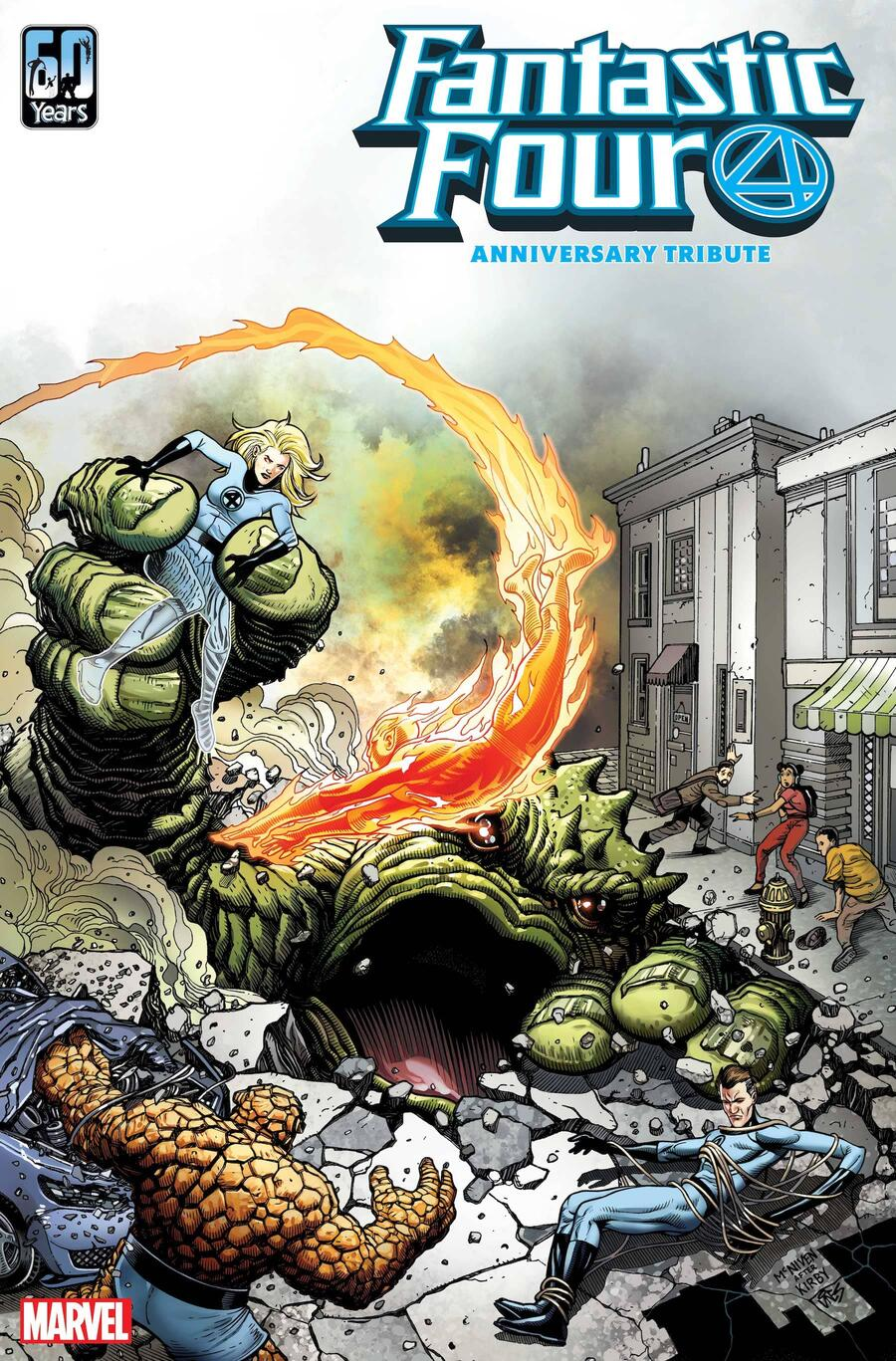 FANTASTIC FOUR ANNIVERSARY TRIBUTE #1 cover by Steve McNiven