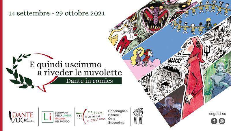 Locandina FB Dante in Comics